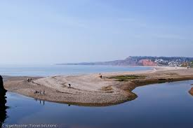Budleigh Salterton - River joins the sea
